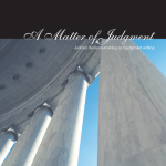 Education Monograph 2 Cover - A Matter of Judgment