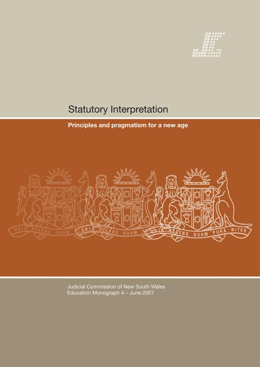 Cover for Education Monograph 4 - Statutory Interpretation