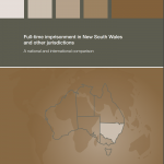 Monograph 29 Cover - Full-time imprisonment in New South Wales and other Jurisdictions: a national and international comparison