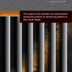 Research Monograph 33 Cover - The Impact of the standard non-parole period sentencing scheme on sentencing patterns in New South Wales